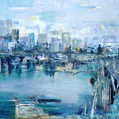 The Harbour by Canadian abstract artist Deb Menken