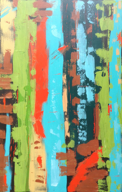 Just Getting Started: original abstract art by Canadian artist Deb Menken